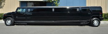 Black Hummer Limo Side View 2