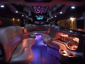 Black Hummer Limo Interior