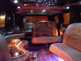 Black Hummer Limo Interior 2