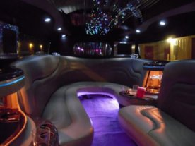 Black Hummer Limo Interior 3
