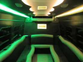 Austin Black Party Bus Interior 3