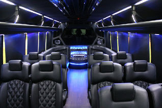 Austin Corporate Executive Shuttle Bus Interior