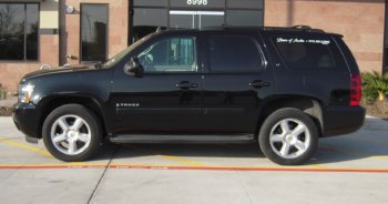 Austin SUV car service Tahoe side view
